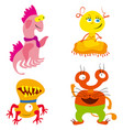 nice monsters set vector image vector image