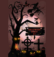 old wood cemetery a holiday in october halloween vector image vector image