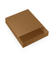 packaging open brown packaging box top view on vector image vector image