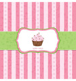 Pastel Vintage Cupcake Background vector image vector image