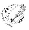 piano keyboard logo music vector image