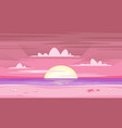 pink sunset background vector image