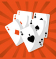 poker playing cards deck hazard chance vector image