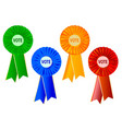 political rosettes vector image vector image