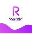 r company logo design with purple theme vector image vector image