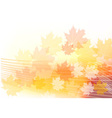 red and orange autumn theme vector image vector image