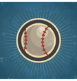 Retro Baseball vector image vector image