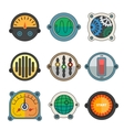 Robot technical Colorful meter icon vector image vector image