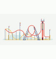 rollercoaster design element vector image