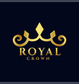 royal crown logo concept premium icon design vector image