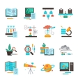 Science Equipment Icon Set vector image vector image