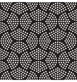 Seamless Black And White Halftone Circles vector image vector image