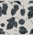 seamless pattern with hand drawn stylized hop vector image vector image