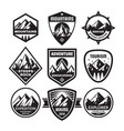 set adventure outdoor concept badges summer vector image