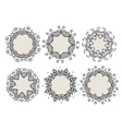 Set of ornamental frames for your design vector image vector image