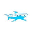 shark logo design outline isolated concept vector image