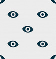 sixth sense the eye icon sign Seamless pattern vector image