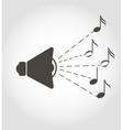 Speaker and notes sound icon vector image vector image
