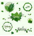 spring badges vector image vector image