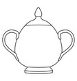 sugar pot outline isolated on vector image vector image