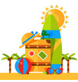 summer vacation tour agency vector image