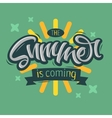 The Summer Is Coming Label Design Brush Script vector image vector image