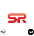 Two letters S and R ligature logo Dynamic sport vector image vector image