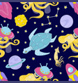 universe cloth space galaxy ocean seamless pattern vector image