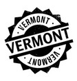 vermont rubber stamp vector image vector image