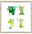 Wector watercolor hand-draw colorful alphabet vector image