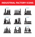 Industrial Factory Icons - Set vector image