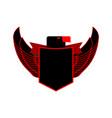 eagle and shield heraldic emblem black falcon vector image