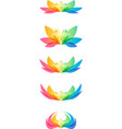 set flower head vector image