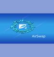 airswap ast isometric token symbol defi vector image vector image