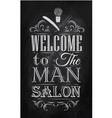 Barbershop Poster chalk vector image vector image