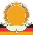 Beer label with German flag oktoberfest symbol vector image