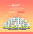 big city - modern colorful vector image vector image