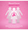 Breast Cancer Awareness Background vector image vector image