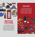 british culture vertical travel booklets with vector image