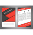 brochures in style material design vector image