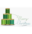 christmas thread tree vector image vector image