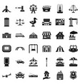 city icons set simple style vector image vector image