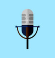 classic microphone style graphic vector image vector image