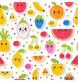 colorful hand drawn seamless pattern with vector image vector image