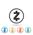 cryptocurrency coin zcash zec icon isolated vector image vector image