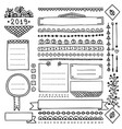 cute frames and doodle design elements for planner vector image vector image