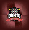darts logo template design vector image
