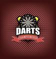 darts logo template design vector image vector image