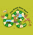 dear on board game template vector image