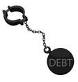 debtor ball on chain vector image